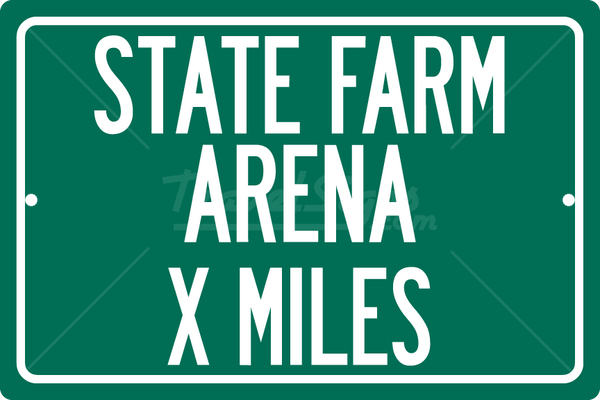 Personalized Highway Distance Sign To: State Farm Arena, Home of the Atlanta Hawks