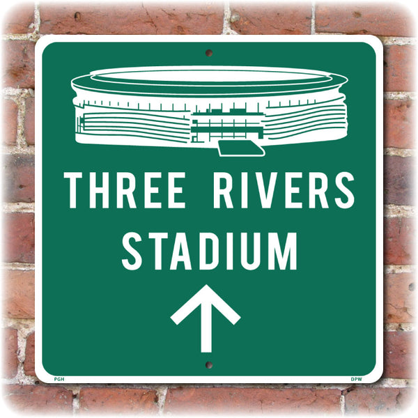 Three Rivers Stadium Direction Sign, Previous Home of the Pittsburgh Pirates and Steelers