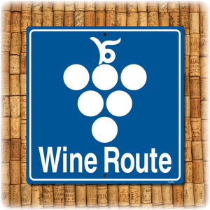 Wine Route Highway Sign
