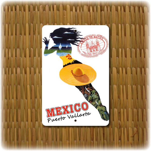 Personalized  Mexico Vintage Travel Sign