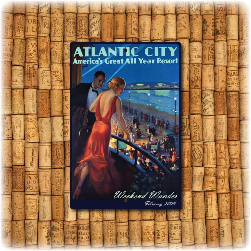 Personalized  Atlantic City Vintage Travel Sign