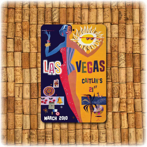 Las Vegas  Personalized  Vintage Travel Sign