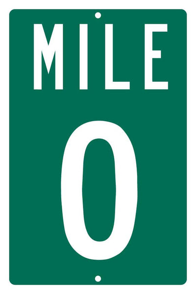 Mile Marker 0 - Key West A1A Highway Sign