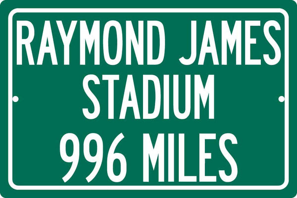 Personalized Highway Distance Sign To: Raymond James Stadium, Home of the Tampa Bay Buccaneers