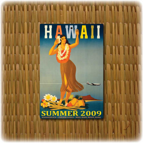 Personalized Hawaii Vintage Travel Sign