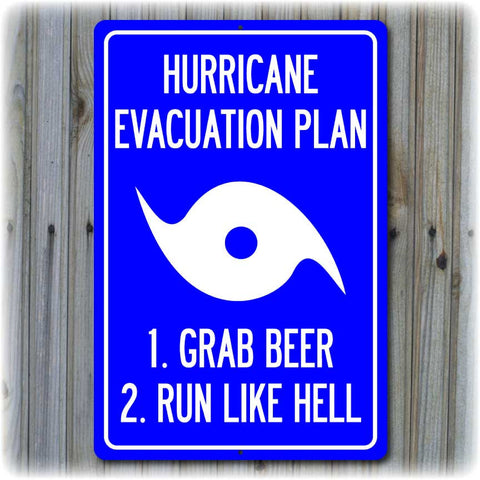 Hurricane Evacuation Plan Sign