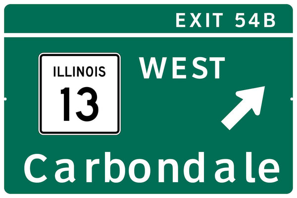 Southern Illinois I-57 Exit Sign Replica