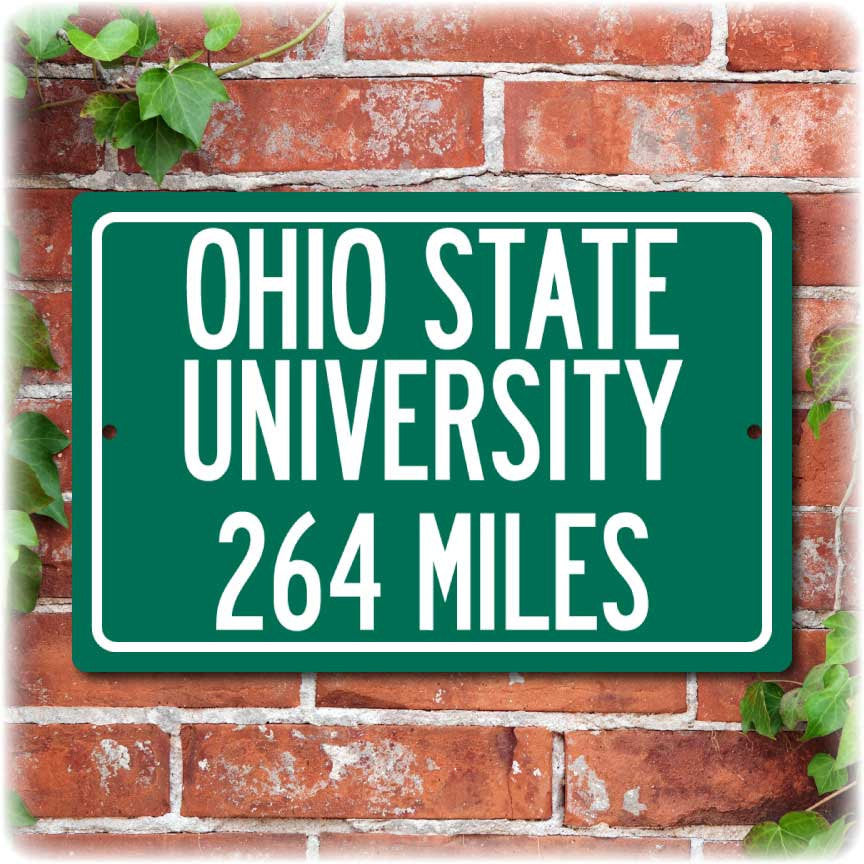 Personalized University Highway Distance Sign - Ohio State