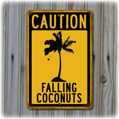 Caution - Falling Coconuts Sign