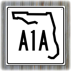 Florida A1A Highway Sign - Key West