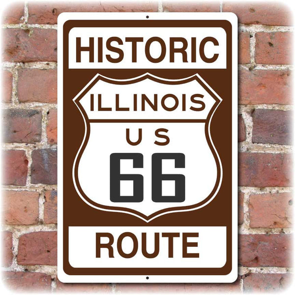 Illinois Historic Route 66 Sign