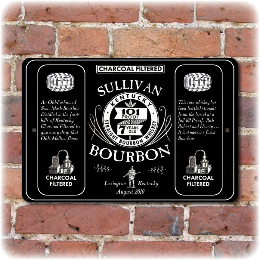 Personalized Vintage Bourbon Advertising Sign