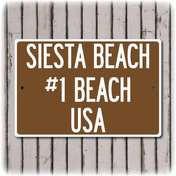 Siesta Key Beach Sign