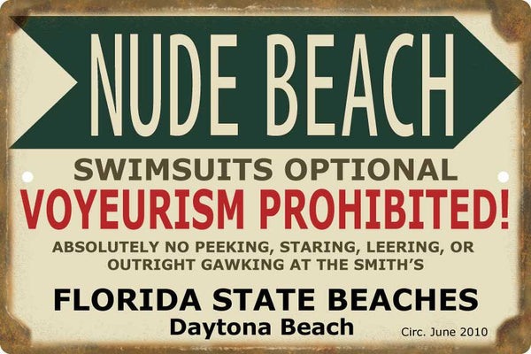 Nude Beach Personalized Sign