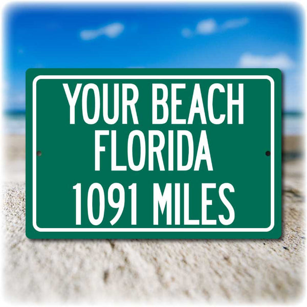 Your Favorite Beach Personalized Distance Sign