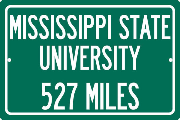 Personalized University Highway Distance Sign - Mississippi State