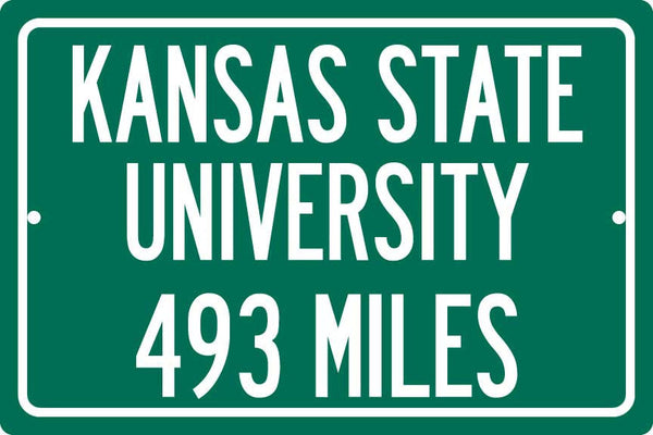 Personalized University Highway Distance Sign - Kansas State