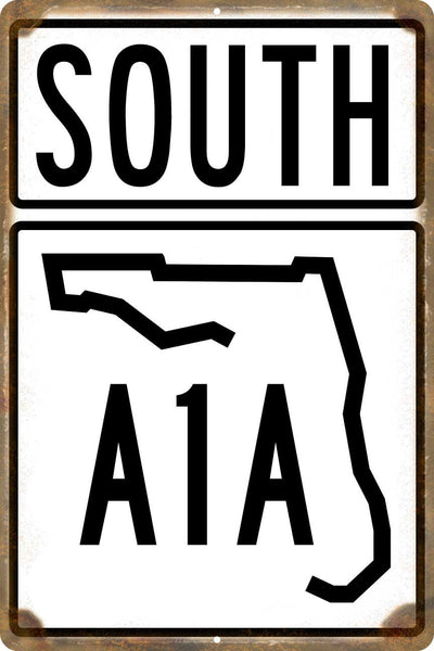 Florida A1A South Highway Sign - Key West
