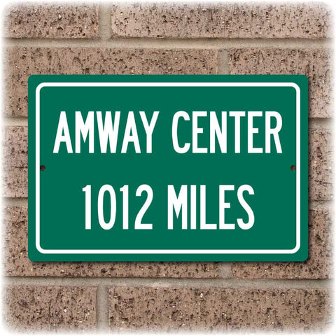 Personalized Highway Distance Sign To: Amway Center, Home of the Orlando Magic