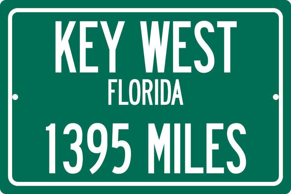 Personalized Highway Distance Sign To: Key West Florida, the Conch Republic
