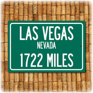Personalized Highway Distance Sign To: Las Vegas Nevada - Sin City