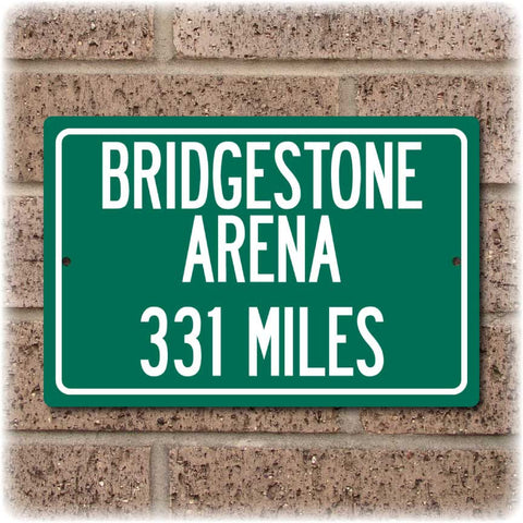 Personalized Highway Distance Sign To: Bridgestone Arena, Home of the Nashville Predators