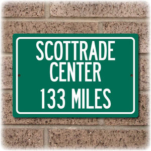 Personalized Highway Distance Sign To: Scottrade Center, Home of the St. Louis Blues