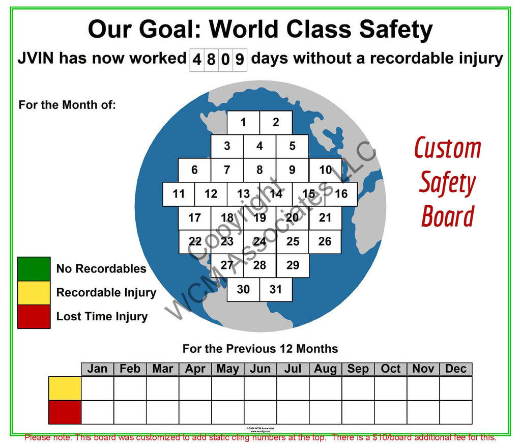 Customized Safety Board