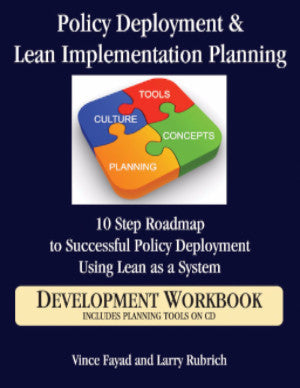 Policy Deployment & Lean Implementation Planning: 10 Step Roadmap to Successful Policy Deployment Using Lean as a System: Development Workbook with CD
