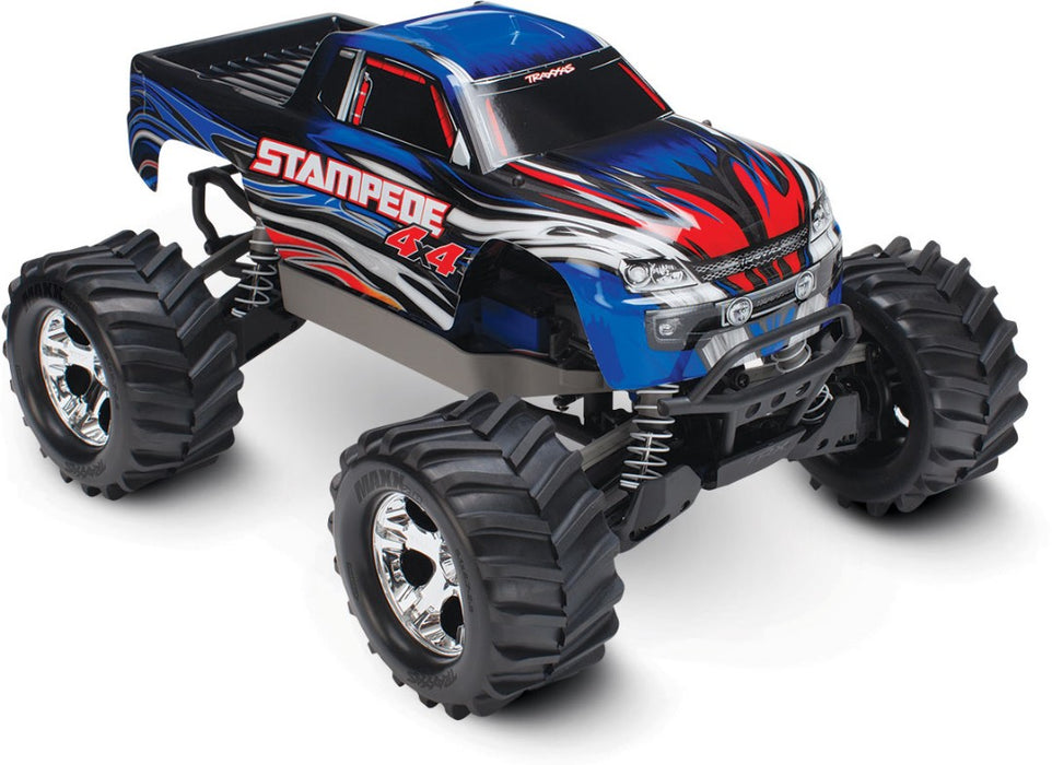 TRA67054-1 BLUE Traxxas Stampede 4X4 brushed Titan 12t motor and XL-5 ESC