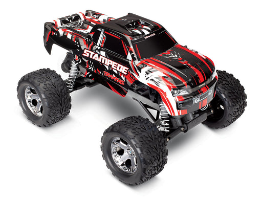 TRA36054-1 RED Traxxas Stampede RC Monster Truck® Rock-Crushing Torque—And Waterproof!