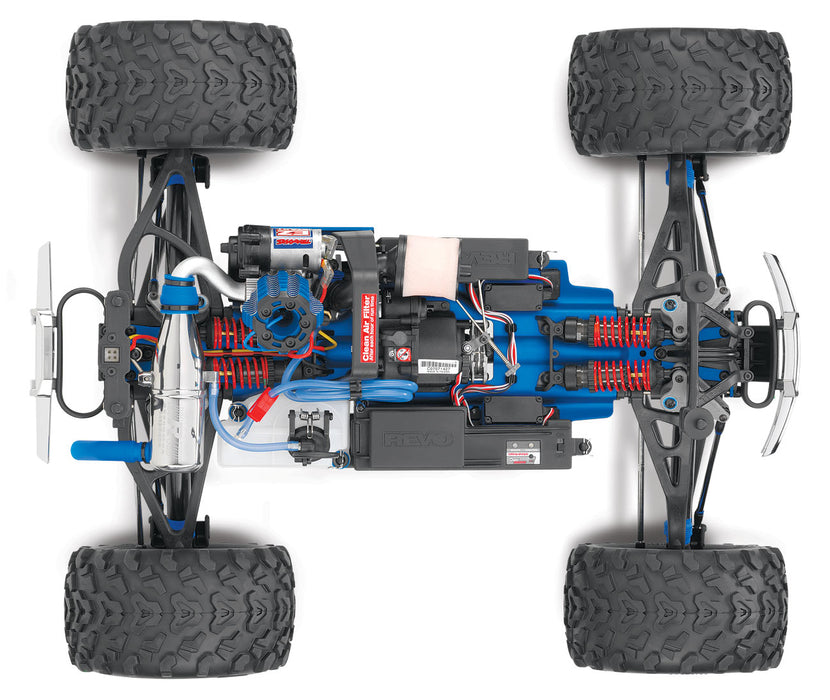 TRA53097-3 BLUE Revo 3.3:  1/10 Scale 4WD Nitro-Powered Monster Truck