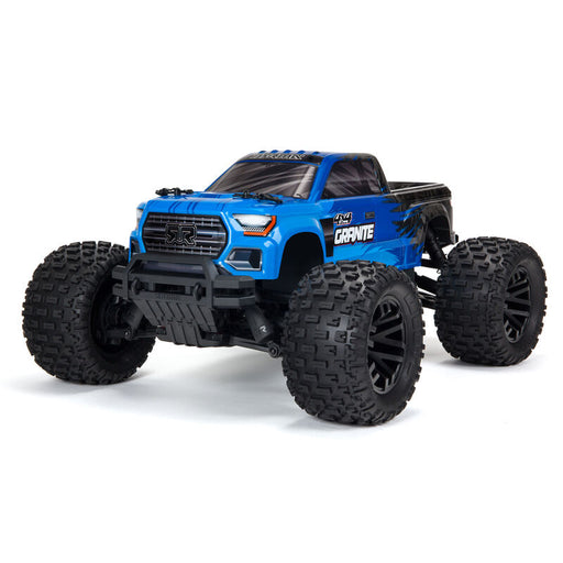 ARA4202V3T1 GRANITE 4X4 MEGA Brushed 1/10th 4wd MT Blue ** FOR LONG RUN TIME & QUICK CHARGER ORDER part # SPMXPS2