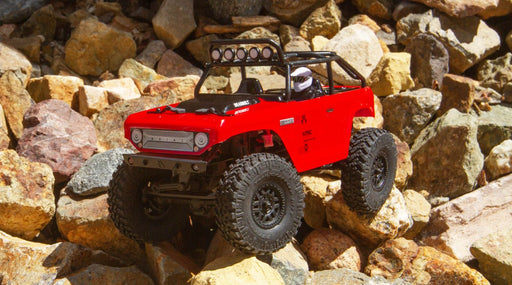 AXI90081T1 RED 1/24 SCX24 Deadbolt 4WD Rock Crawler Brushed RTR, Red