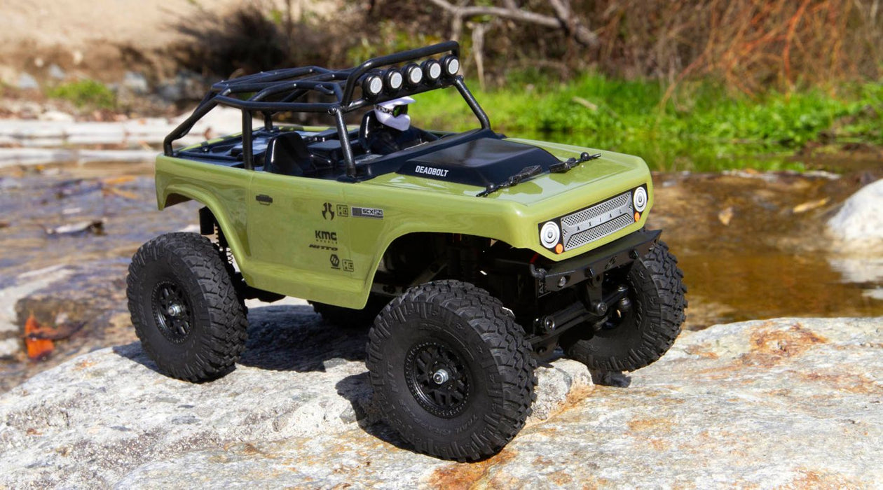 AXI90081 GREEN 1/24 SCX24 Deadbolt 4WD Rock Crawler Brushed RTR, Green