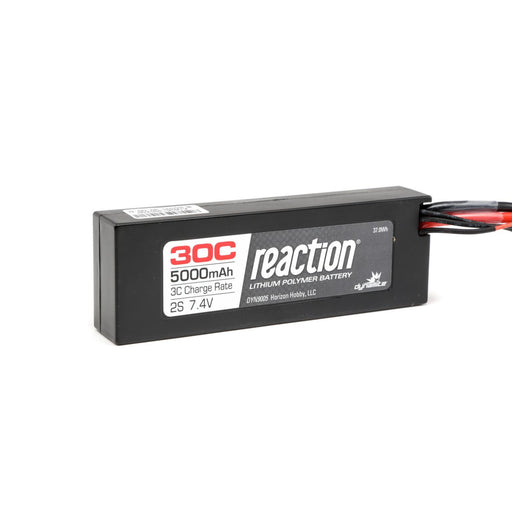 DYN9005EC Reaction 7.4V 5000mAh 2S 30C LiPo Hard Case: EC3