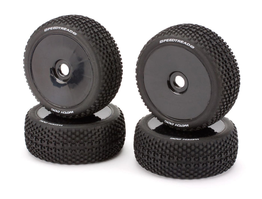 ECX0983 Mounted Wheel/Tire Set (4): Revenge Type E/N-In Store Only