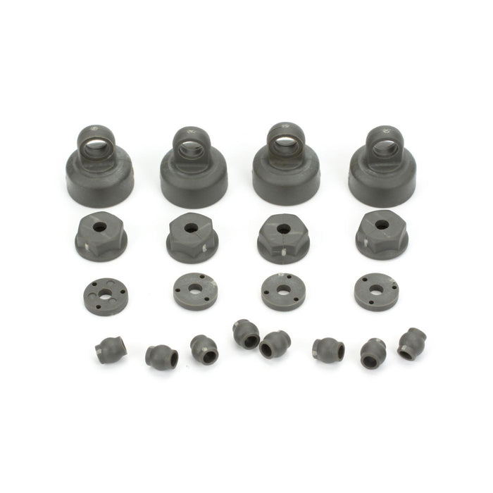 ECX1037 Shock Cap, Piston, Pivot Ball Set: 1:10 2wd All-In Store Only