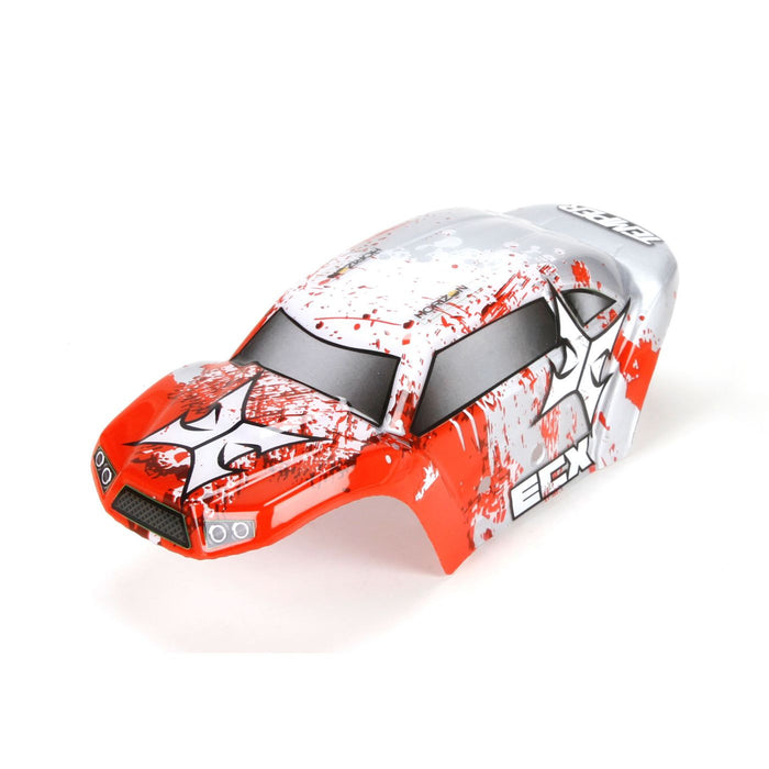 ECX200008 Body Set, Decorated, Red/White: 1:24 Temper-In Store Only