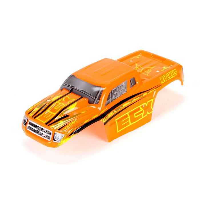 ECX210004 Body Set,Decorated, Orange/Yellow: 1/18 4WD Ruckus-In Store Only