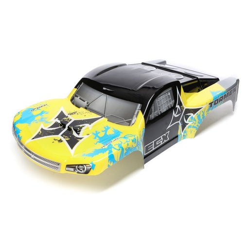 ECX230029 Body, Yellow/Blue: 1/10 2wd/4wd Torment-In Store Only
