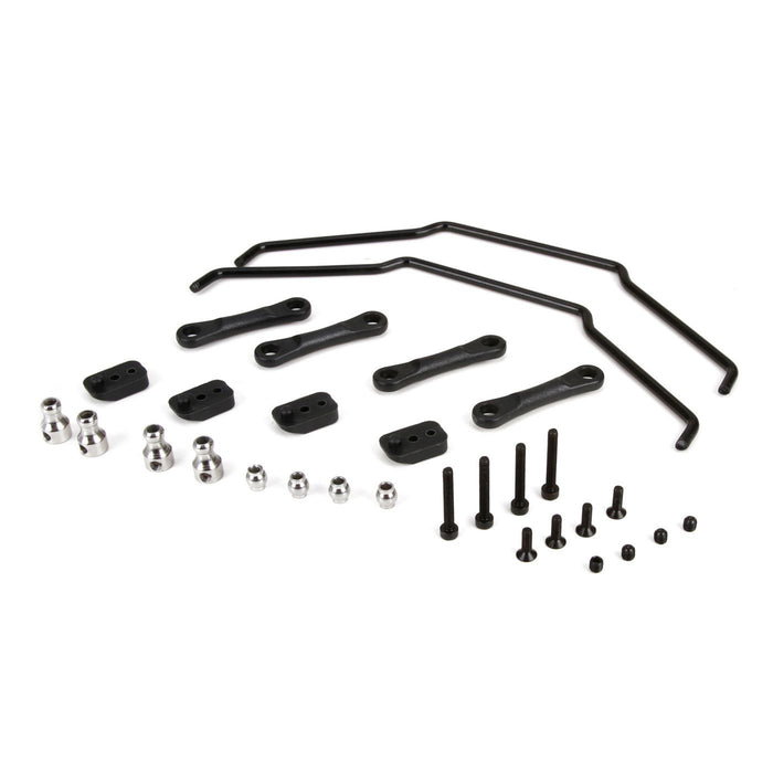LOS254013 Front & Rear Sway Bar Kit: 1:5 4wd DBXL