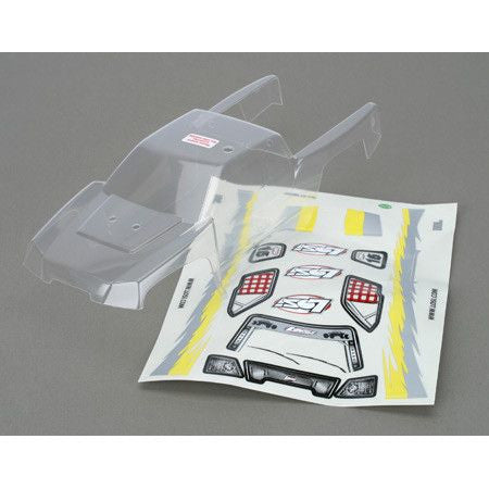 LOSB1319 Mini-DT Body, Clear with Sticker Sheet & Masks