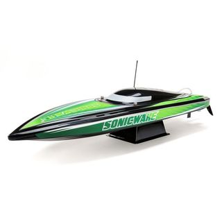 "PRB08032T2 BACK/GREEN 36"" Sonicwake, Self-Right Deep-V Brushless RTR"