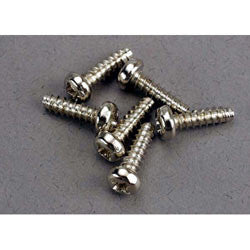 TRA2675 Screws, 3x10mm roundhead self-tapping (6)