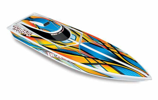 TRA38104-1 ORANGE Blast High Performance Race Boat with TQ 2.4GHz radio system