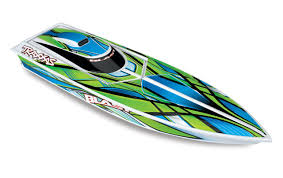 TRA38104-1 GREEN Blast High Performance Race Boat with TQ 2.4GHz radio system