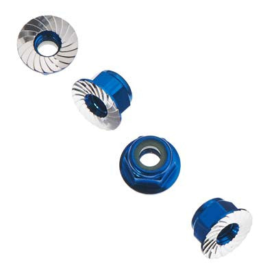 AXA1046 Wheel Nut M4 Serrated Blue (4)