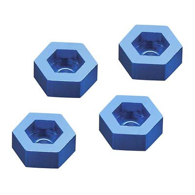 DIDC1144 Aluminum Wheel Adapter To 12mm Hex Blue (4)-In Store Only