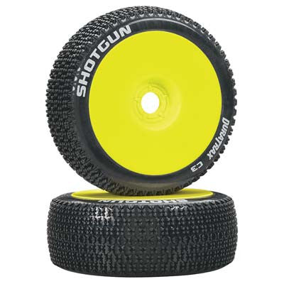 DTXC3628 Shotgun 1/8 Buggy Tire C3 Mounted Yellow (2)